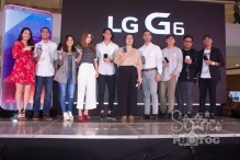 "LG G6 is now in the Philippines. Present at the launch at SM Mega Fashion Hall were (L-R): Program host and radio DJ Karla Aguas, basketball star LA Tenorio, actress and VJ Sharlene San Pedro, social media influencer Janeena Chan, TV personality Luis Hontiveros, LG Mobile Philippines Product Manager Faith Mijares, LG Mobile Philippines Senior Sales Head Aldo San Pedro, actor and singer Khalil Ramos, Spot.ph Associate Publisher Owen Maddela and ""I'm Drunk, I Love You"" movie director JP Habac."